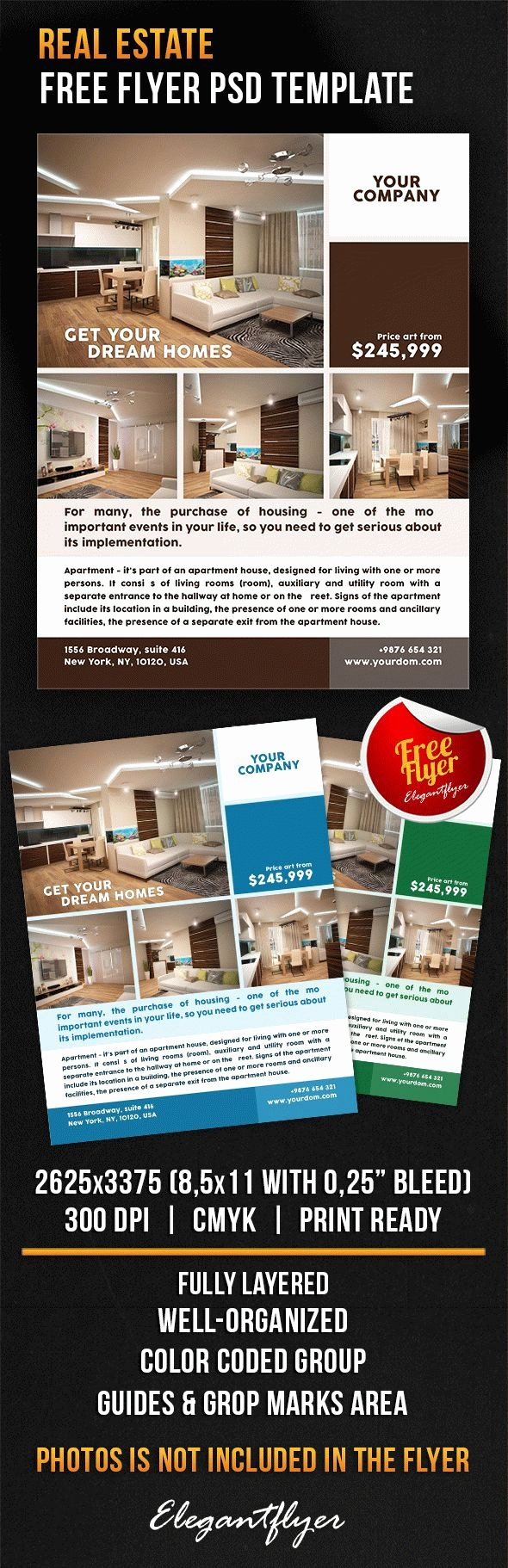 Real Estate Flyer Template Psd Best Of Real Estate – Free Flyer Psd Template – by Elegantflyer