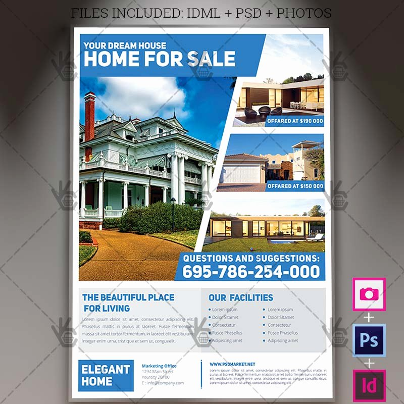 Real Estate Flyer Template Psd Best Of Simple Real Estate A4 Flyer Psd Template Indesign