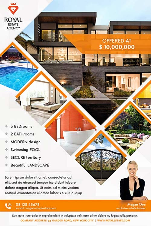 Real Estate Flyer Template Psd Elegant Real Estate Multipurpose Free Flyer Template Download