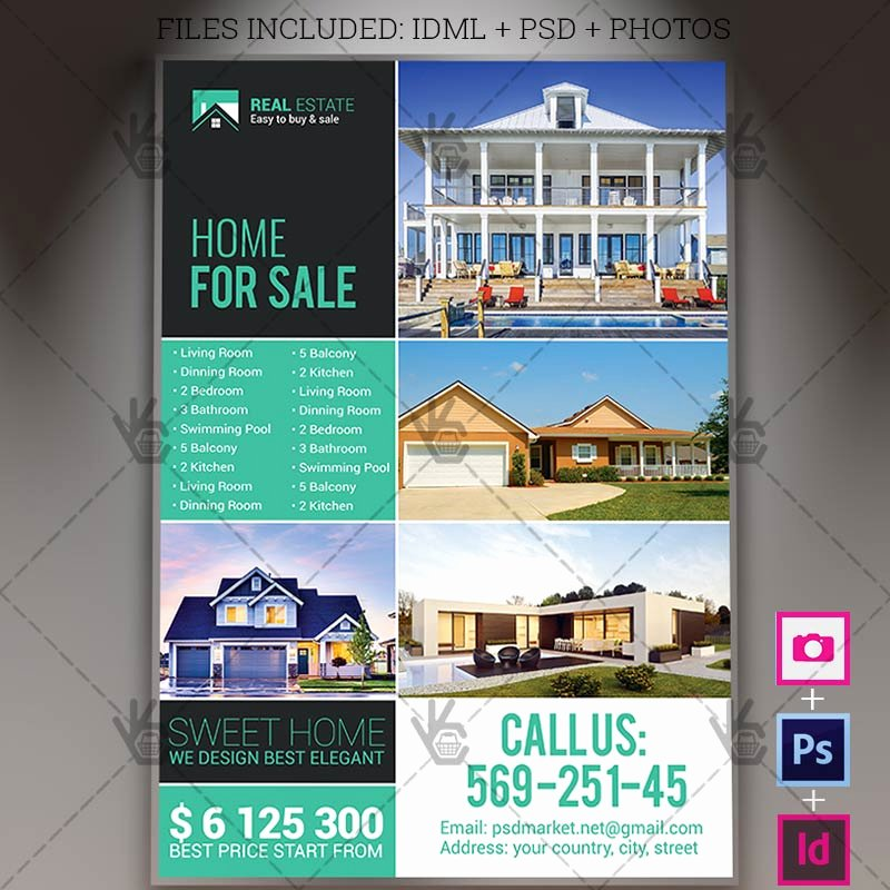 Real Estate Flyer Template Psd Fresh Real Estate Agency A4 Flyer Psd Template Indesign