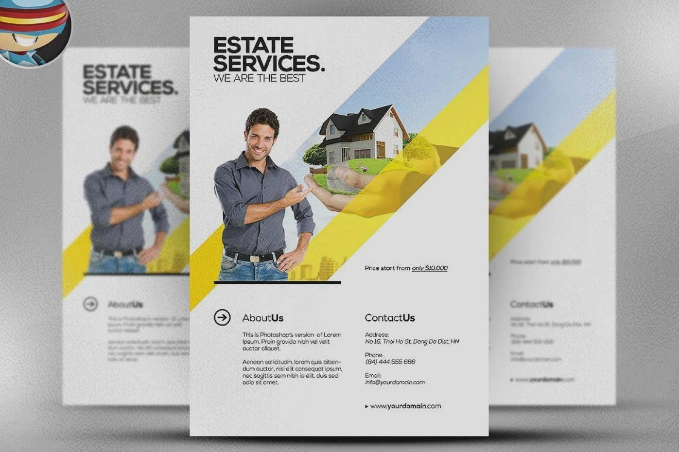 Real Estate Flyer Template Psd Inspirational Real Estate Brochure Templates Psd Free Download Luxury