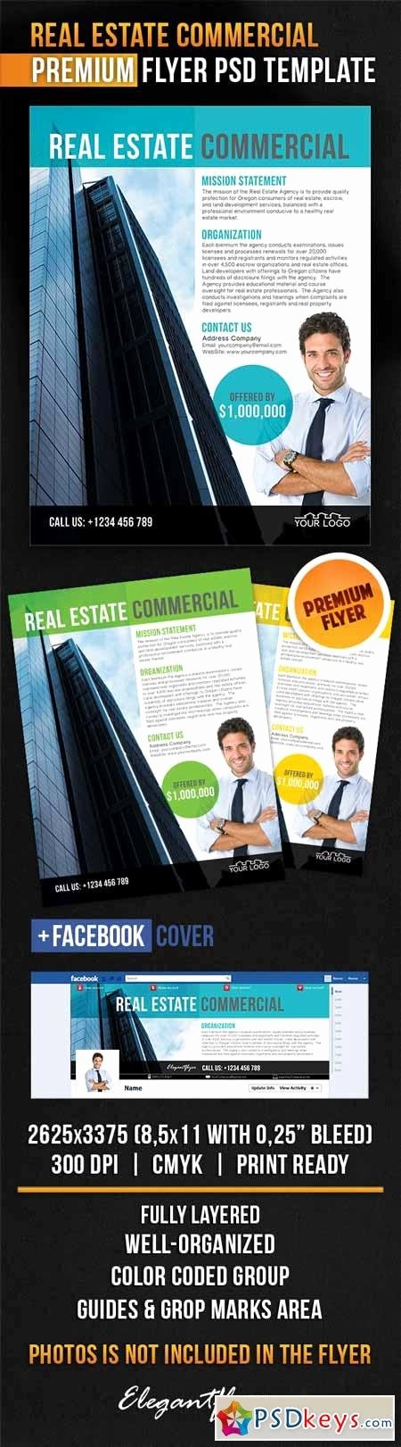 Real Estate Flyer Template Psd Inspirational Real Estate Mercial – Flyer Psd Template