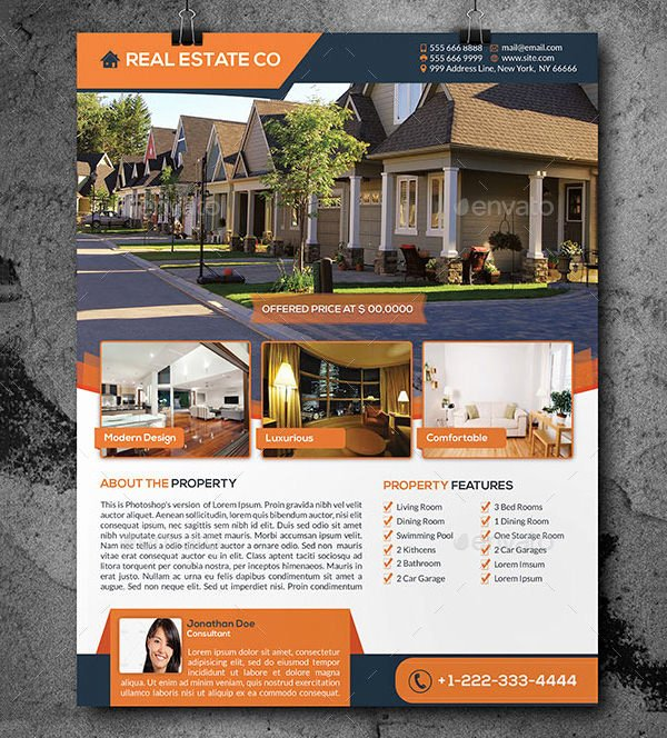 Real Estate Flyer Template Psd Lovely Real Estate Flyer Template – 52 Free Psd Ai Vector Eps