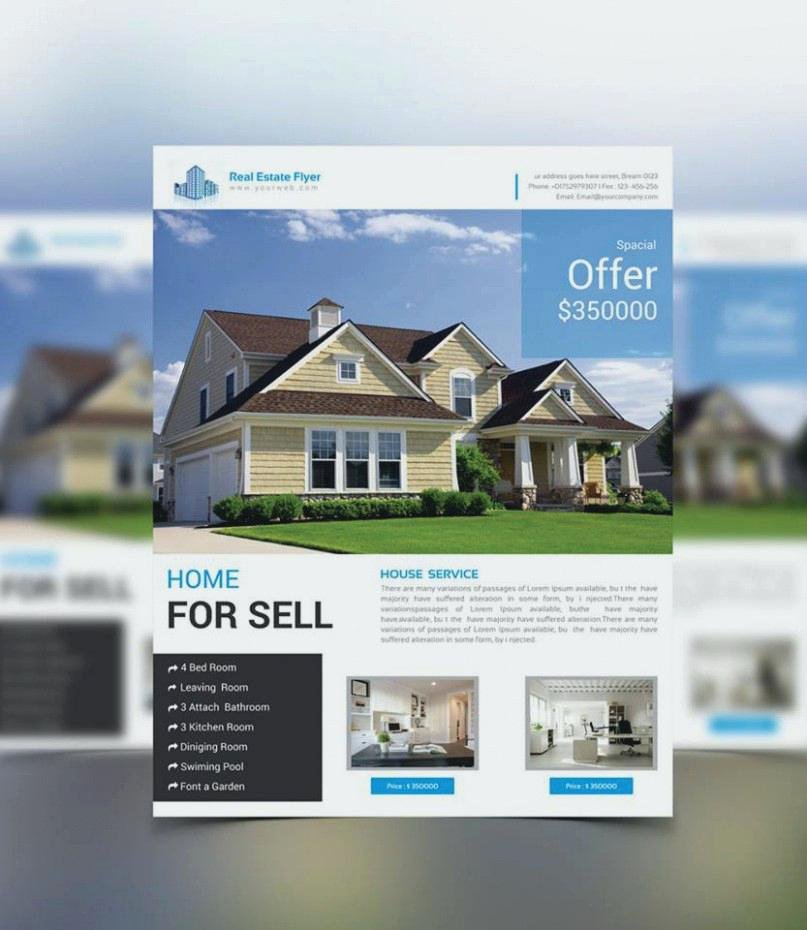 Real Estate Flyer Template Psd Lovely Real Estate Flyer Template Psd – Flybymedia