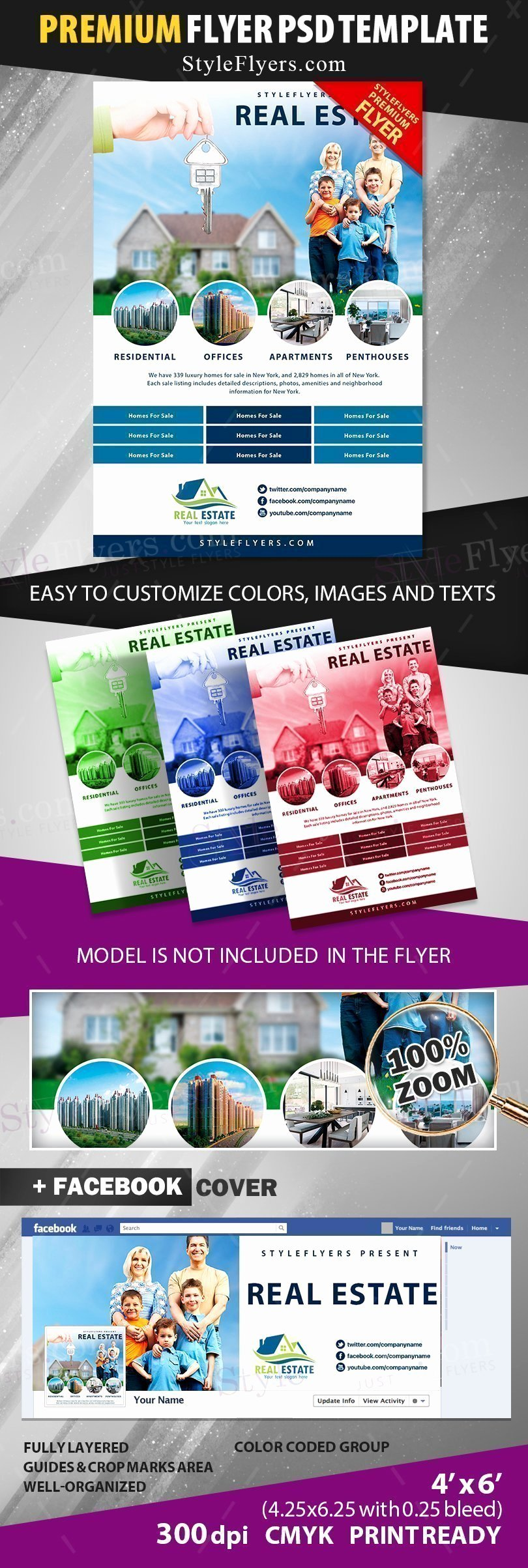Real Estate Flyer Template Psd Lovely Real Estate Psd Flyer Template Styleflyers