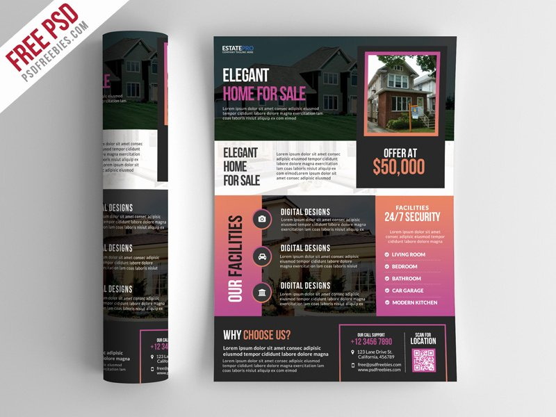 Real Estate Flyer Template Psd Luxury Free Psd Real Estate Flyer Template Psd by Psd Freebies