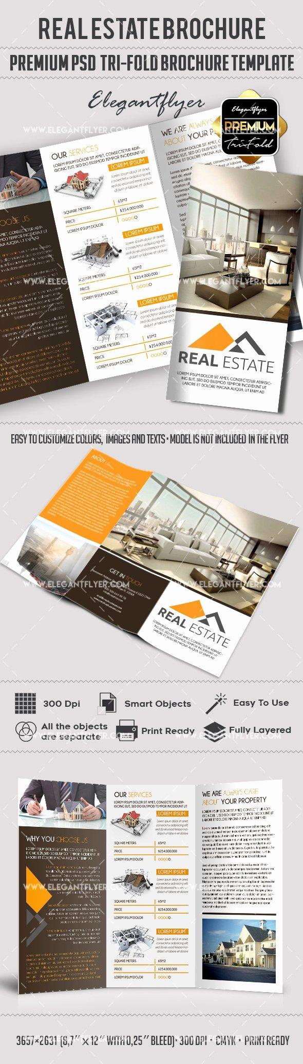 Real Estate Flyer Template Psd Luxury Psd Brochure for Mercial Real Estate – by Elegantflyer