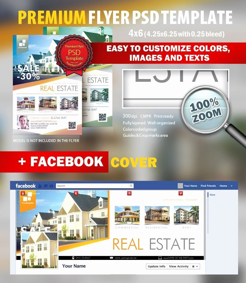 Real Estate Flyer Template Psd Luxury Real Estate Psd Flyer Template 9225 Styleflyers