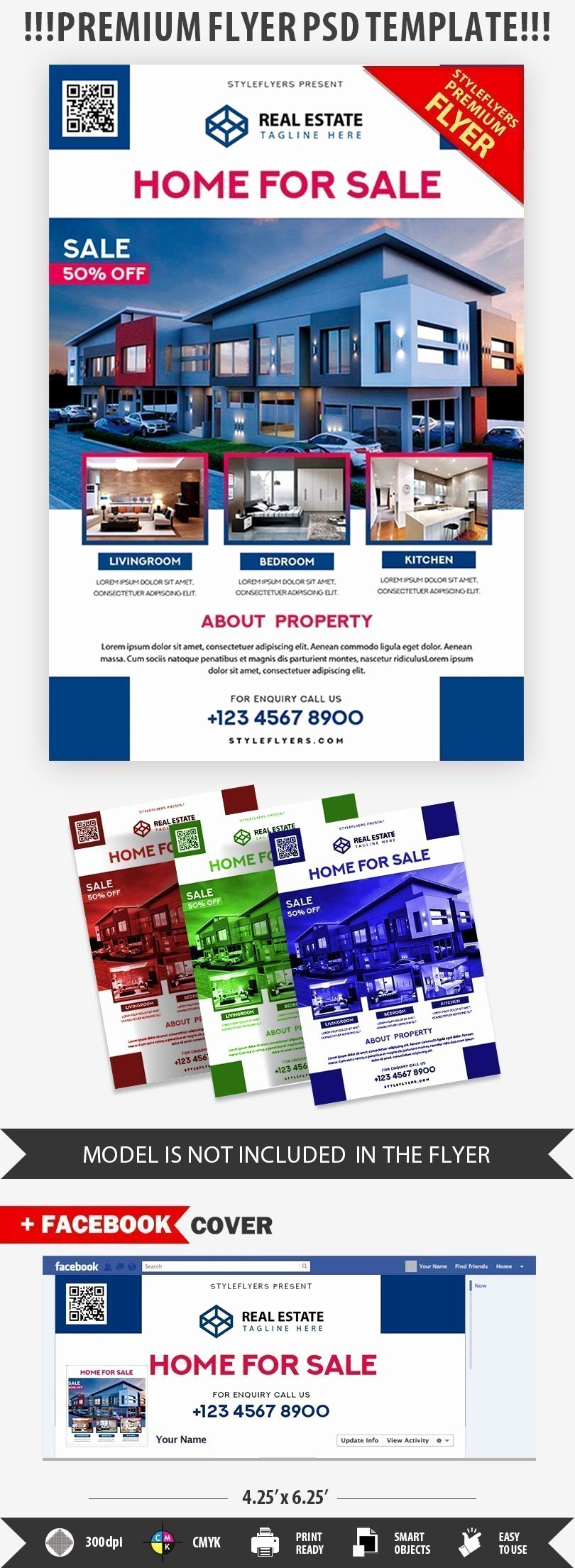 Real Estate Flyer Template Psd Luxury Real Estate Psd Flyer Template Styleflyers