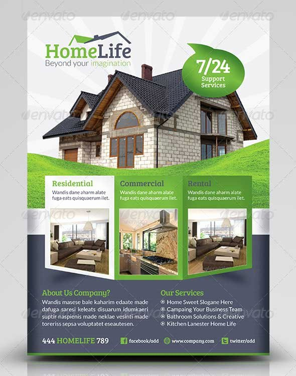 Real Estate Flyer Template Psd Unique 30 Amazing Free Real Estate Flyer Templates Psd Download