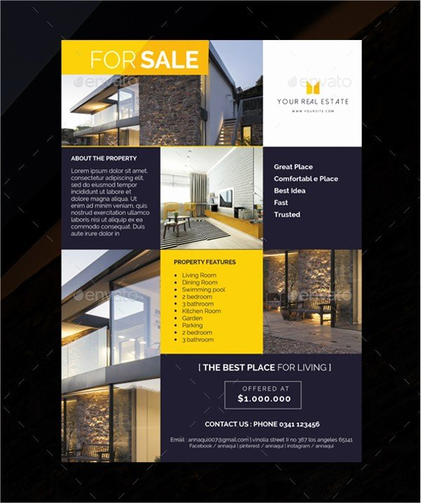 Real Estate Flyer Template Psd Unique Real Estate Flyer Template Psd Repliquemontres