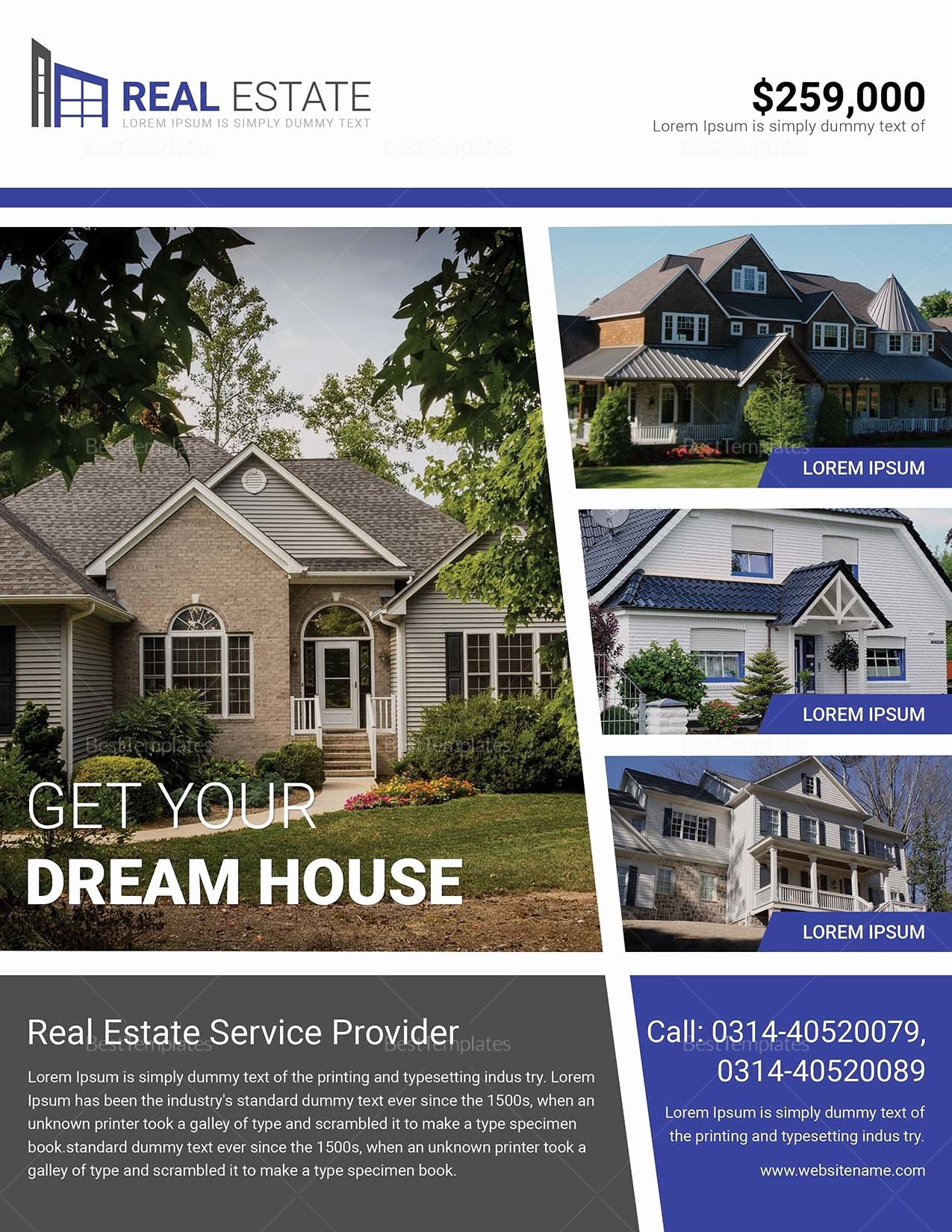 Real Estate Flyer Template Publisher Awesome Dream Home Real Estate Flyer Design Template In Word Psd