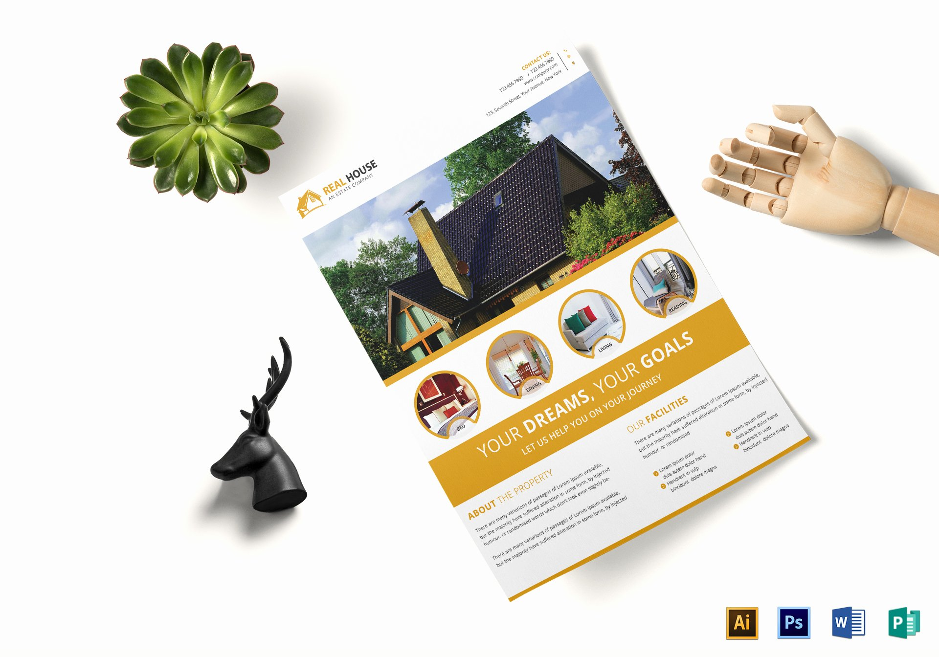Real Estate Flyer Template Publisher Awesome Mercial Real Estate Flyer Design Template In Word Psd