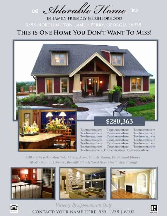 Real Estate Flyer Template Publisher Beautiful 29 Luxury Real Estate Flyer Templates Free Download