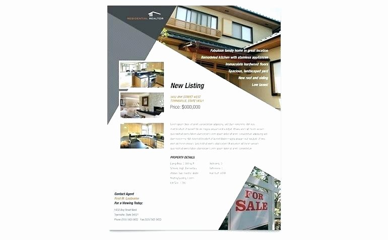 Real Estate Flyer Template Publisher Beautiful Publisher Flyer Template Real Estate Flyer Template for