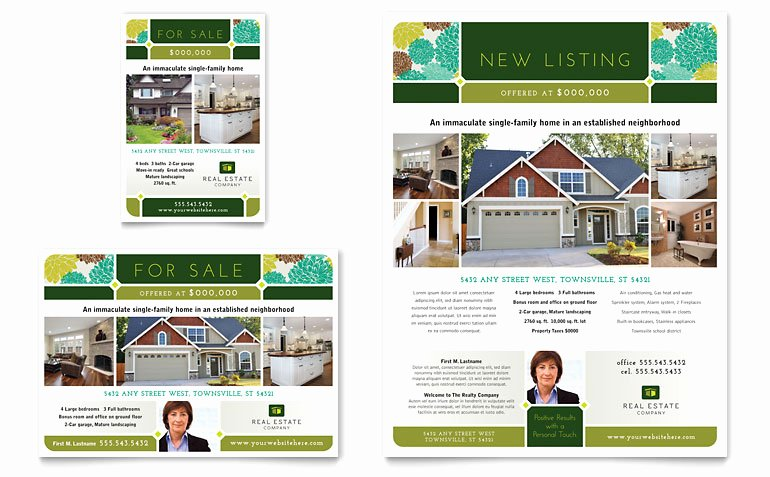 Real Estate Flyer Template Publisher Beautiful Real Estate Flyer & Ad Template Word & Publisher