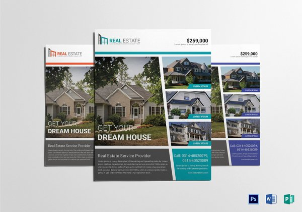 Real Estate Flyer Template Publisher Beautiful Real Estate Flyer Template Printable Editable Word Pdf
