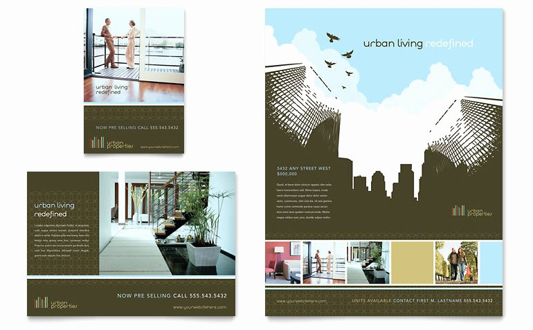 Real Estate Flyer Template Publisher Beautiful Urban Real Estate Flyer & Ad Template Word & Publisher