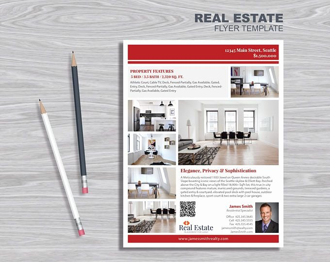 Real Estate Flyer Template Publisher Elegant Modern Design Flyers Indesign Yourweek 4a6731eca25e