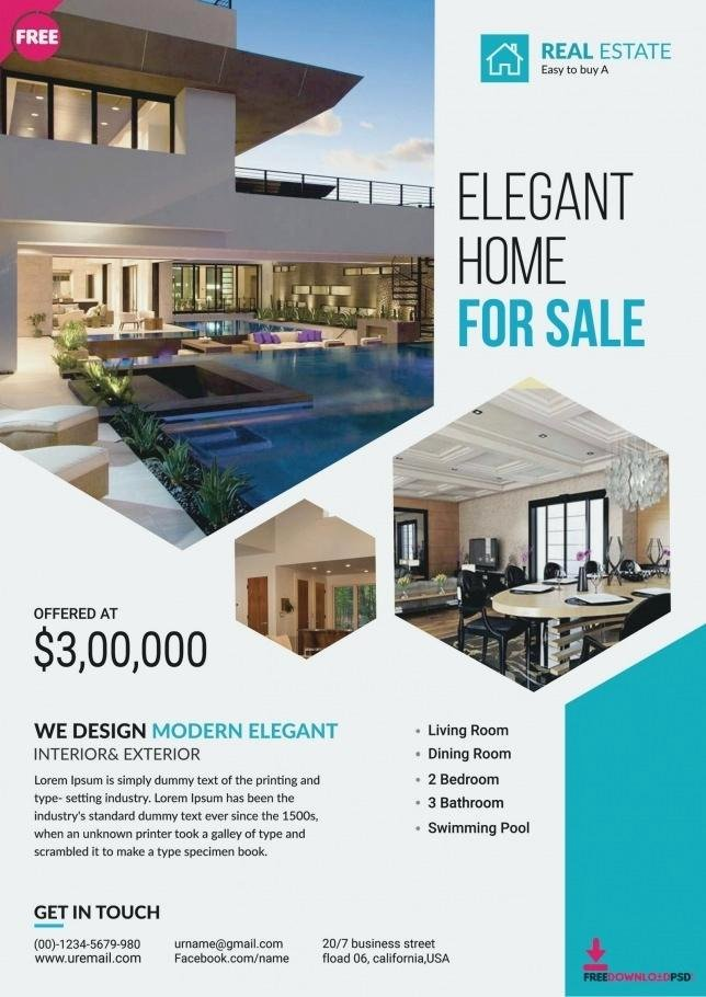 Real Estate Flyer Template Publisher Inspirational Inspirational Real Estate Flyer Template Free Best