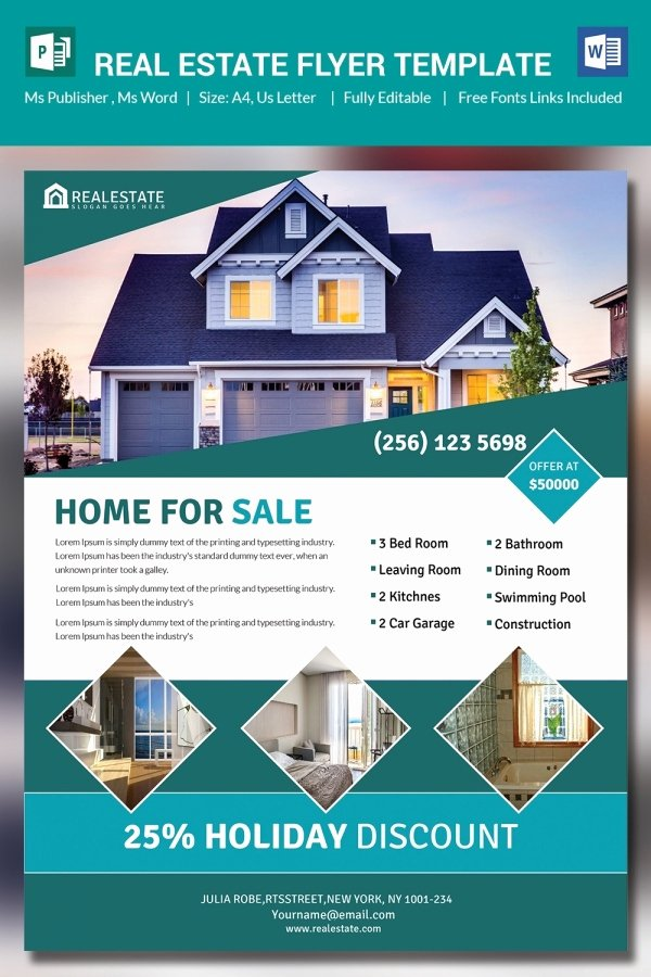 Real Estate Flyer Template Publisher Lovely 26 Microsoft Publisher Templates Pdf Doc Excel