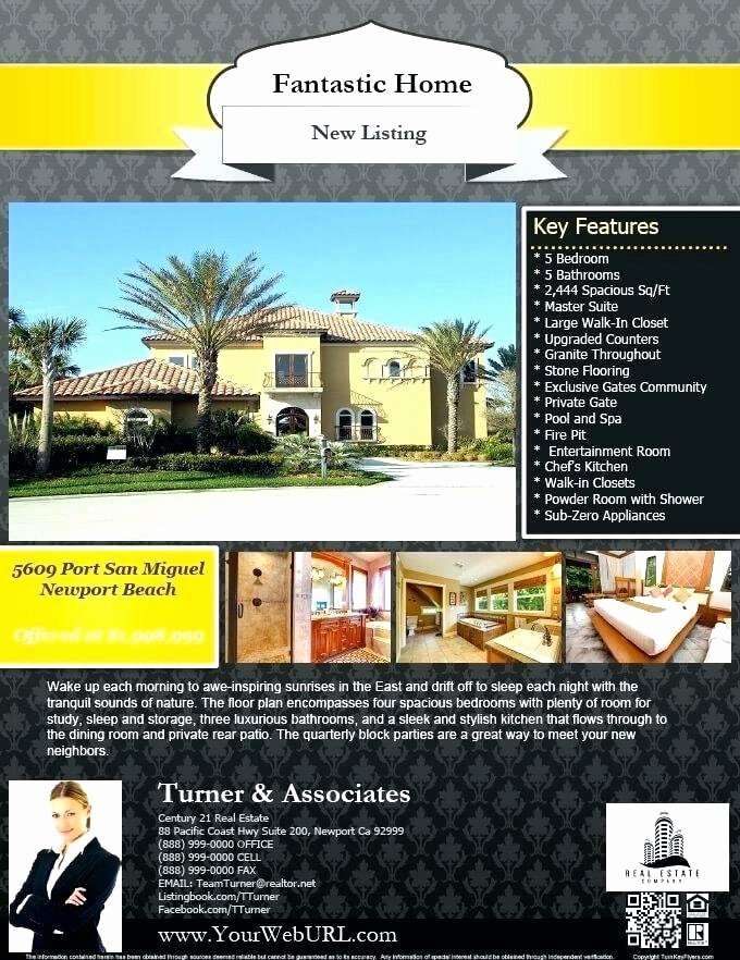 Real Estate Flyer Template Publisher Lovely Microsoft Publisher Real Estate Flyer Templates Free