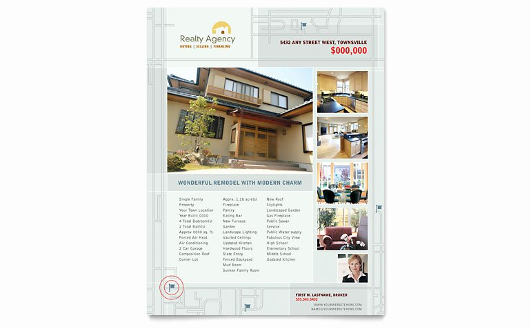 Real Estate Flyer Template Publisher Luxury Real Estate Agent & Realtor Flyer Template Word & Publisher