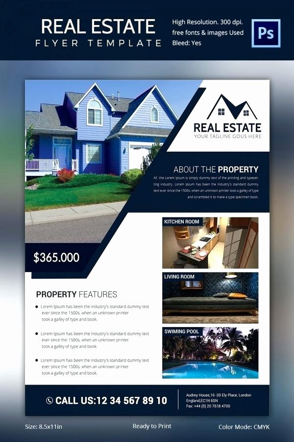 Real Estate Flyer Template Publisher New Real Estate Flyers Template House for Rent Flyer Template