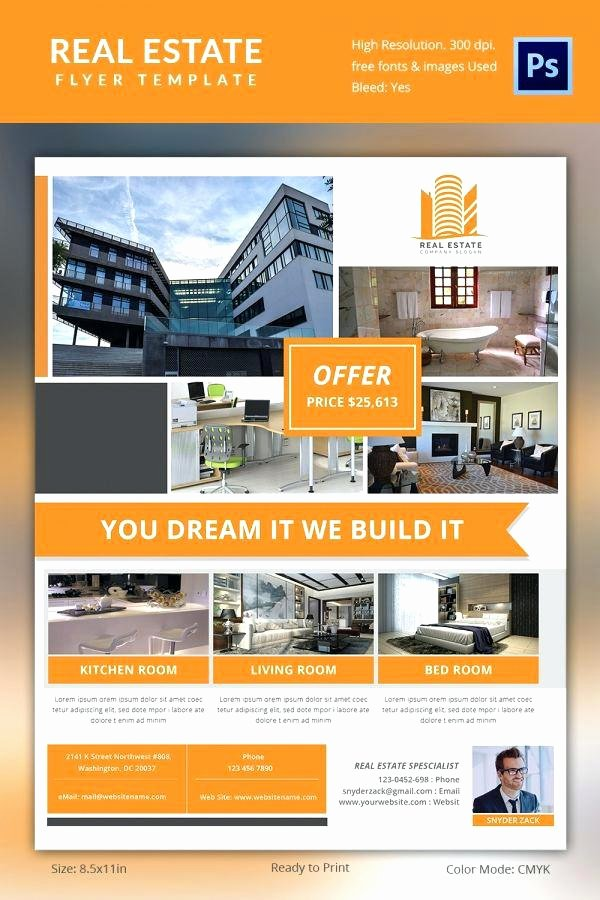 Real Estate Flyer Template Publisher Unique Real Estate Flyer Ad Template Design Marketing Flyers Free