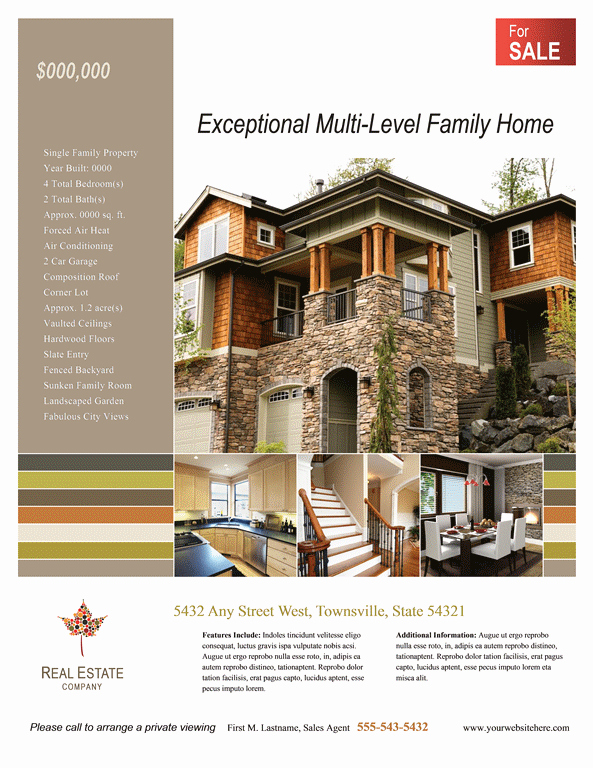 Real Estate Flyer Template Word Awesome 24 Stunning Real Estate Flyer Templates Demplates