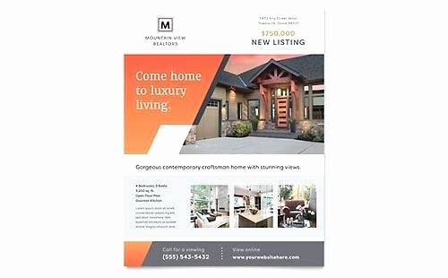 Real Estate Flyer Template Word Beautiful Modern Real Estate Flyer the Best for Realty Panies