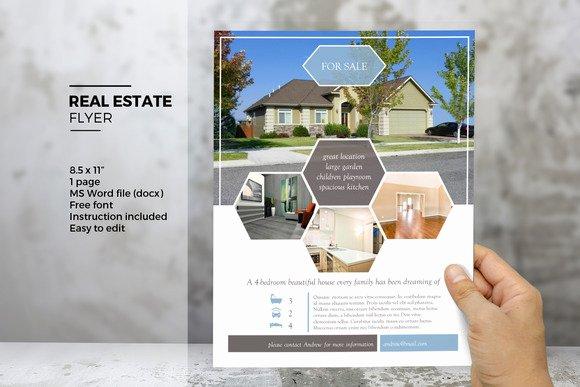 Real Estate Flyer Template Word Beautiful Open Mic Flyer Word Template Designtube Creative