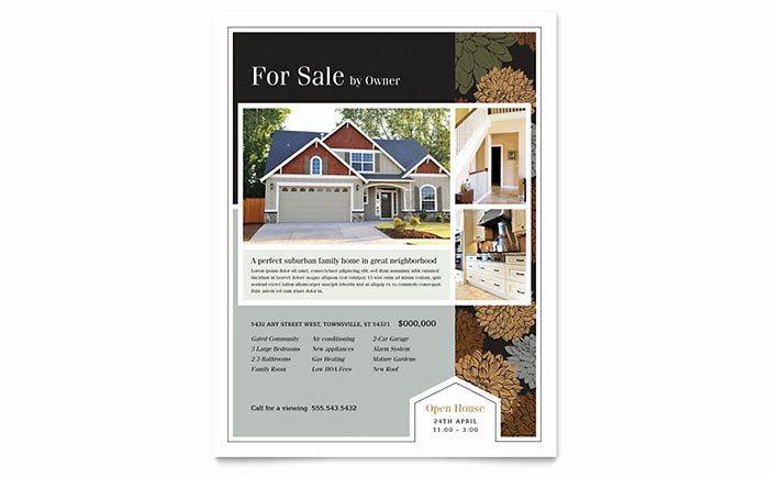 Real Estate Flyer Template Word Best Of Suburban Real Estate Flyer Template Word & Publisher