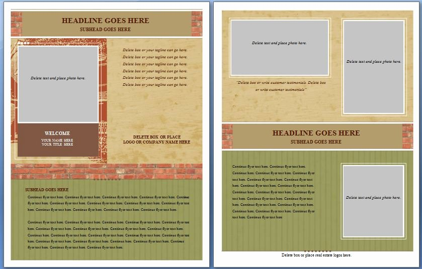 Real Estate Flyer Template Word Elegant Free Templates for Flyers Microsoft Word Ms Real Es