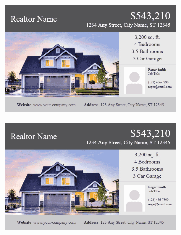 Real Estate Flyer Template Word Elegant Real Estate Flyer Template for Word