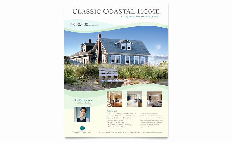 Real Estate Flyer Template Word Fresh Coastal Real Estate Flyer Template Word & Publisher