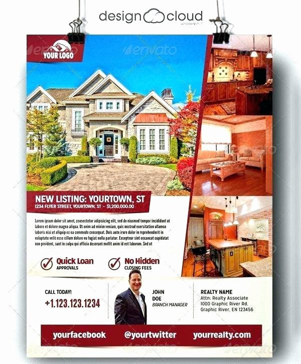 Real Estate Flyer Template Word Fresh Luxury Home Real Estate Flyer Template Word format