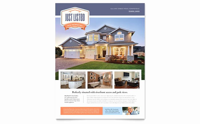 Real Estate Flyer Template Word Inspirational New Property Flyer Template Word & Publisher