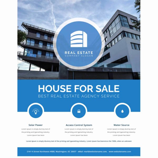 Real Estate Flyer Template Word Lovely 38 Real Estate Flyer Templates Psd Ai Word Indesign