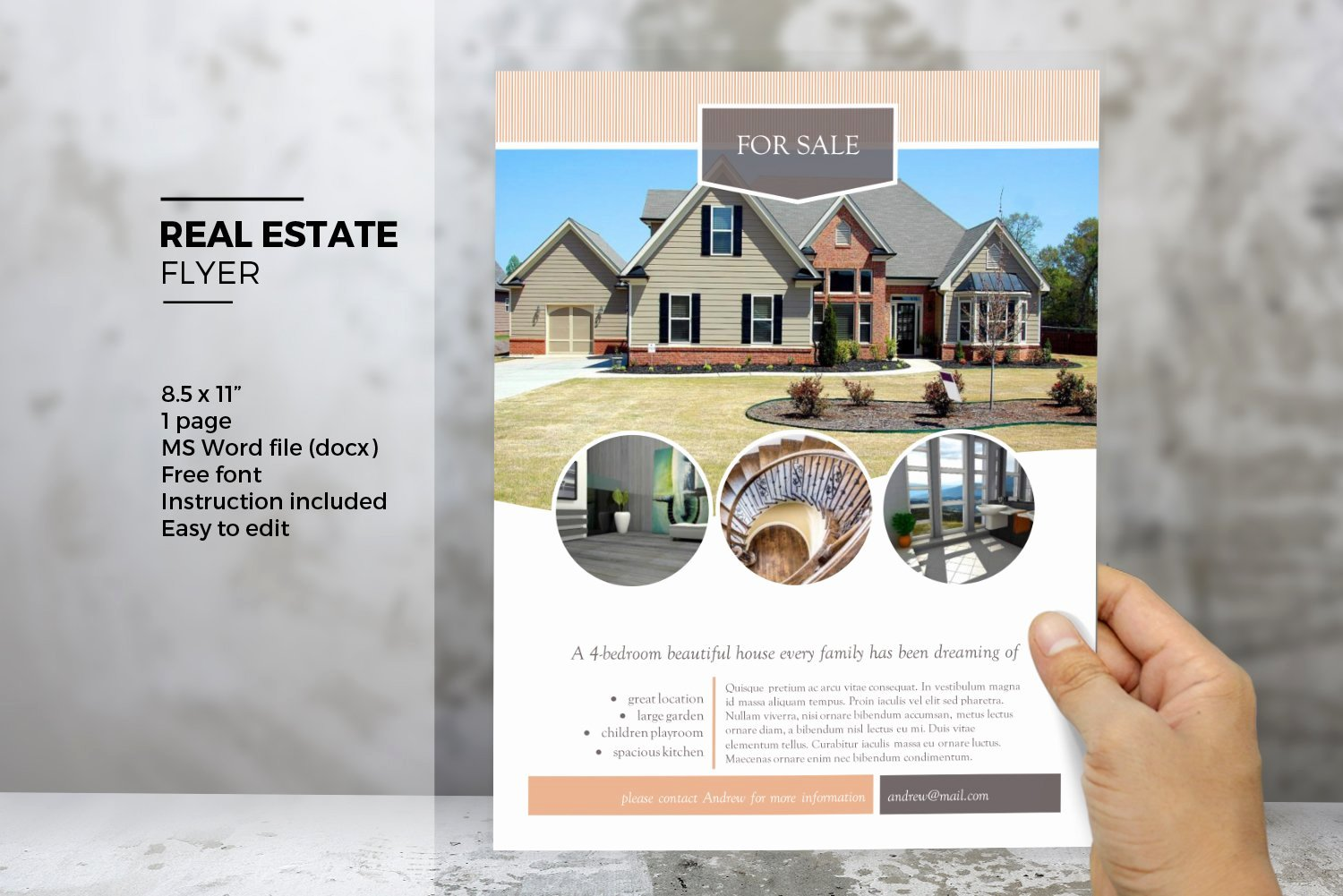 Real Estate Flyer Template Word Luxury Ms Word Real Estate Flyer Template Flyer Templates