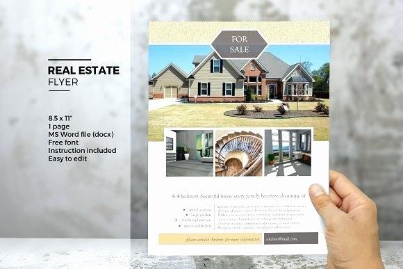 Real Estate Flyer Template Word Luxury Property Brochure Template – Marginesfo