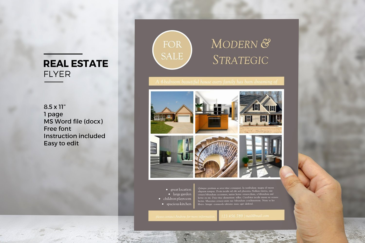 Real Estate Flyer Template Word New Ms Word Real Estate Flyer Template Flyer Templates