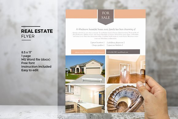Real Estate Flyer Template Word New Ms Word Real Estate Flyer Template Flyer Templates On