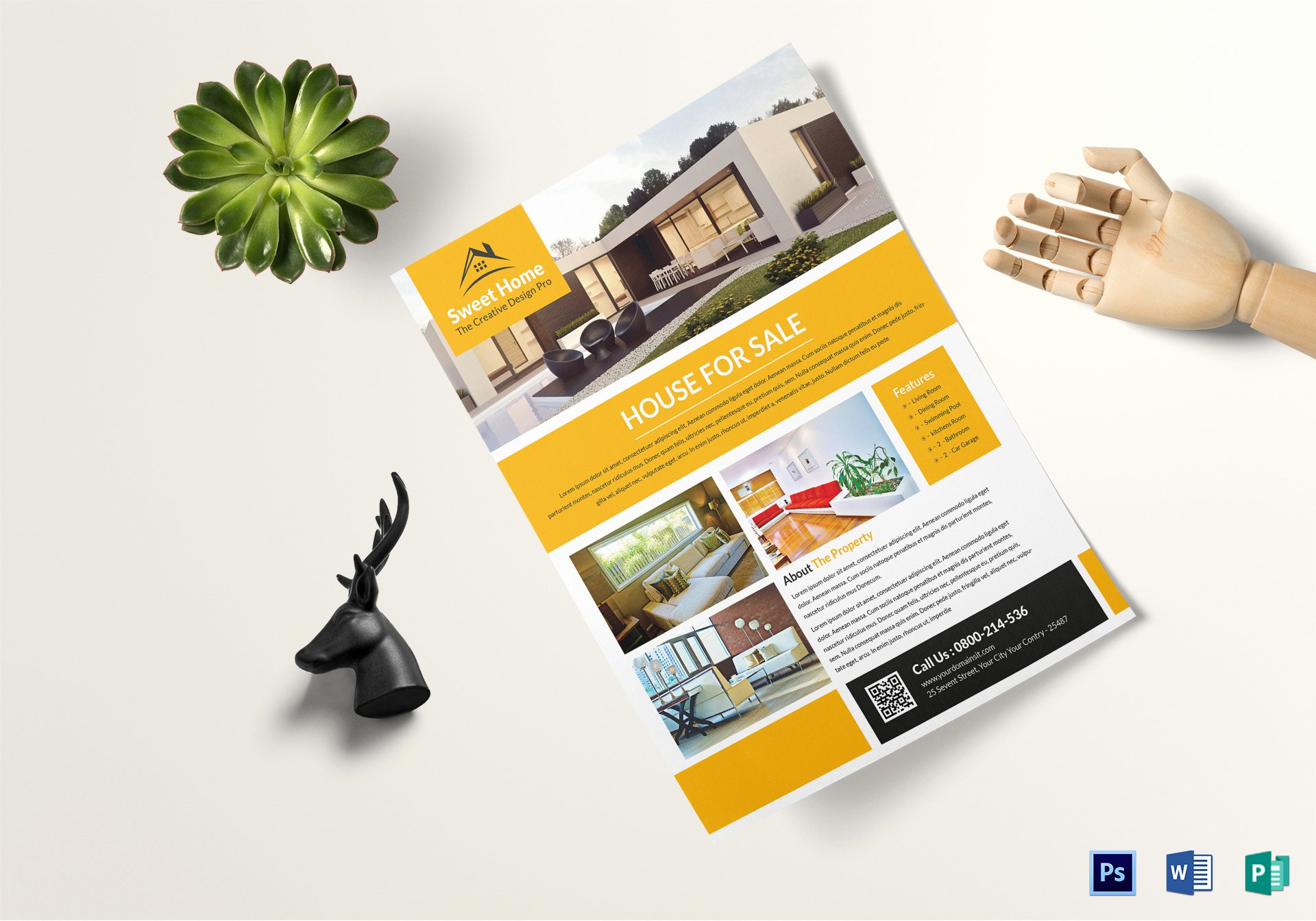 Real Estate Flyer Template Word Unique Custom Real Estate Flyer Design Template In Word Psd