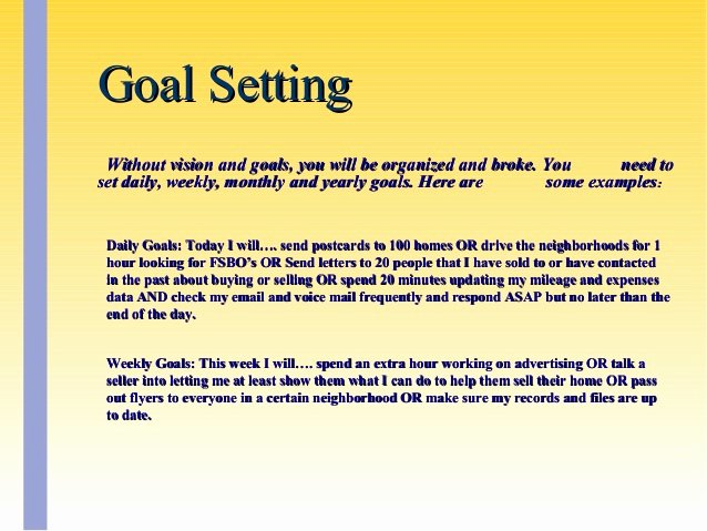 Real Estate Goals Template Best Of Real Estate Goals Examples Mercial Real Estate Analyst