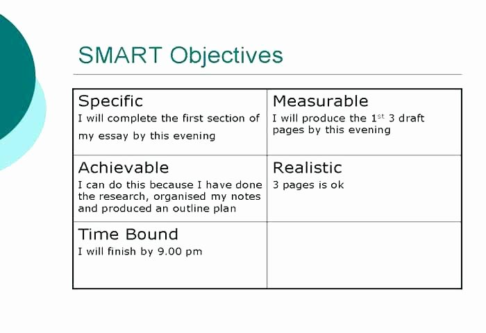 Real Estate Goals Template Elegant Smart Goals and Objectives Examples Personal Work Setting