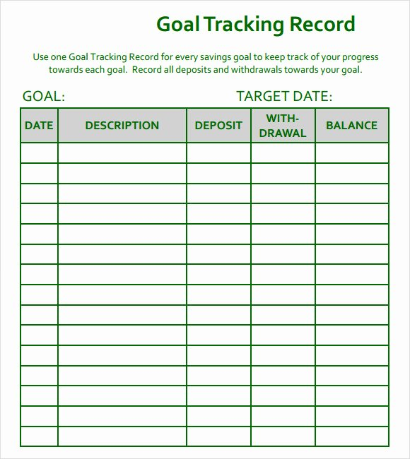 Real Estate Goals Template Fresh 10 Goal Tracking Samples