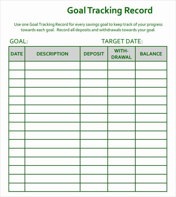 Real Estate Goals Template Fresh 10 Goal Tracking Samples