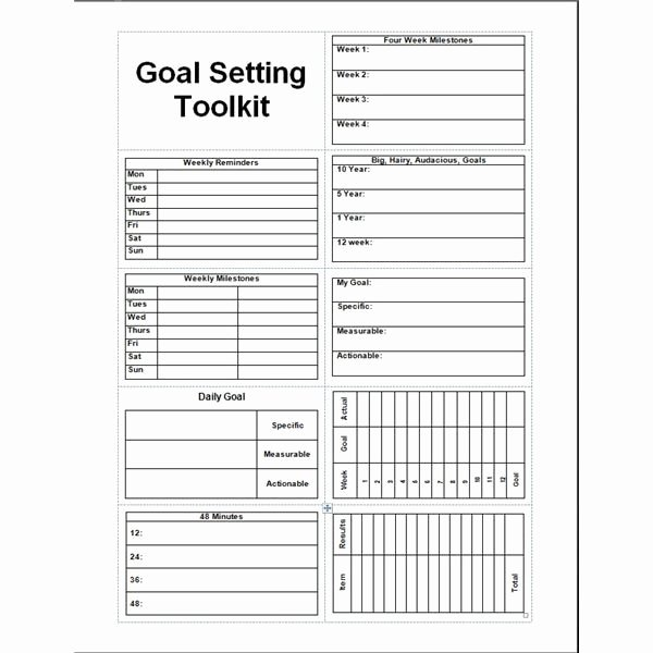 Real Estate Goals Template Luxury Daily Planner Template Printable Free Goal Setter