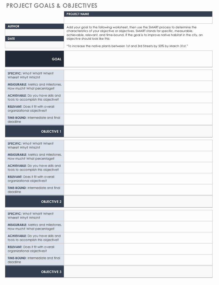 Real Estate Goals Template Unique Free Goal Setting and Tracking Templates